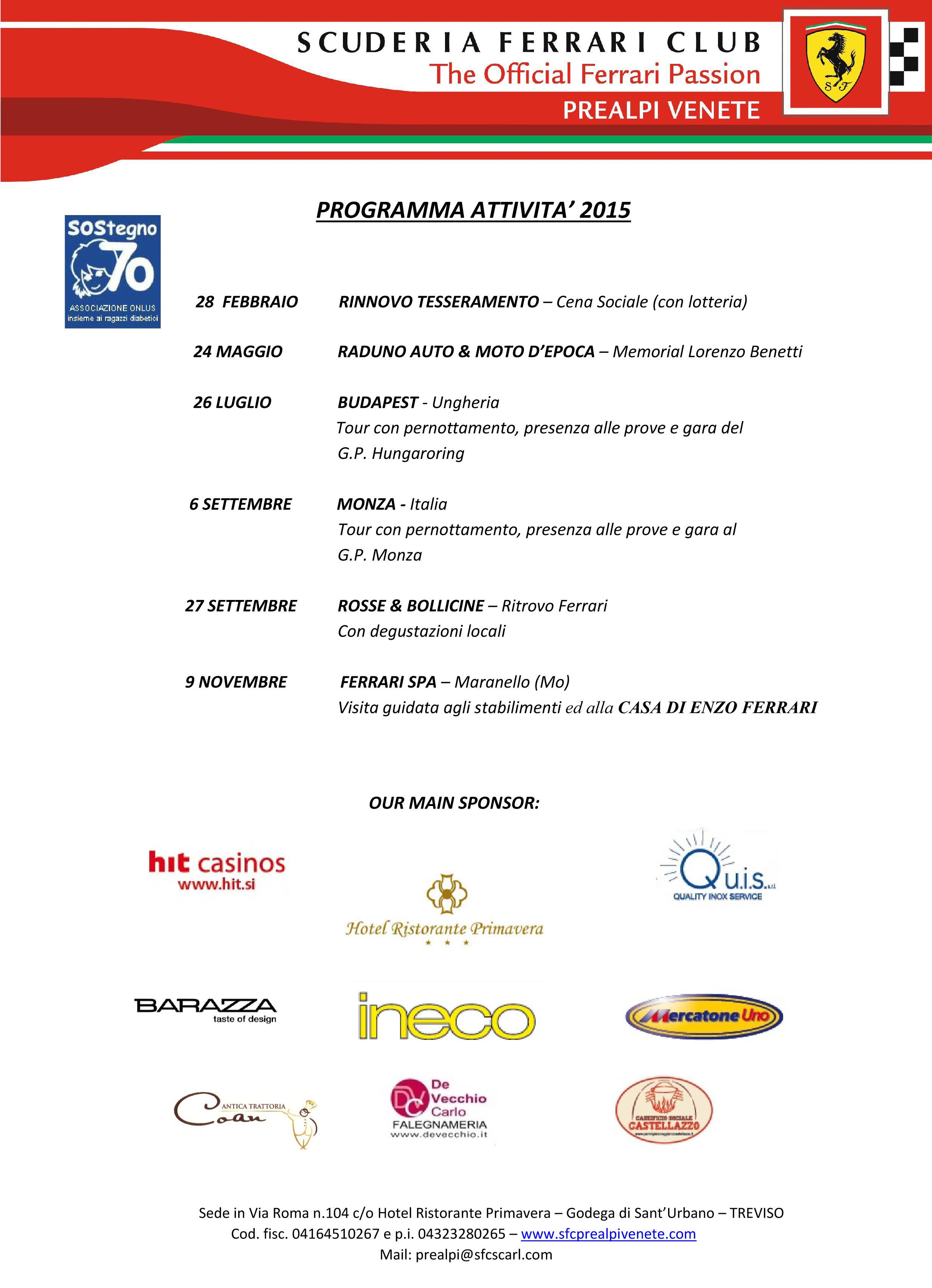 Programma Attività 2015