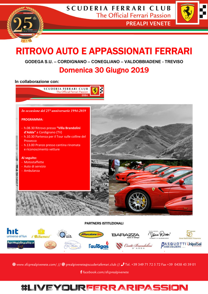Ritrovo auto e appassionati Ferrari 2019
